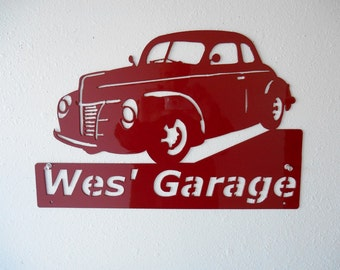 1940 Ford - Personalized Metal Sign - Man Cave - Classic - Hot Rod - Garage Sign -Custom Colors