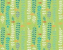 1/2 Yard Organic Cotton Fabric - Monaluna Under the Sea - Kelp Forest