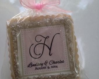 Pale pink wedding shower favors cookie favor