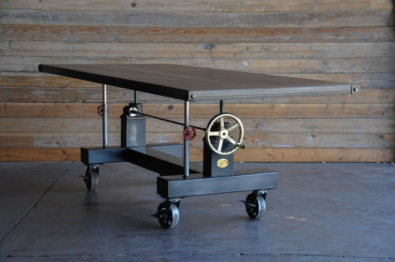 Vintage Industrial Crank Table By Vintageindustrial On Etsy