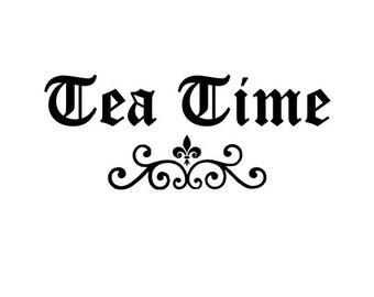 Tea Time STENCIL  5x13 Inch