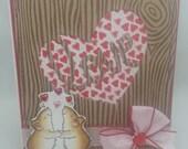 Handmade Card, Greetings, Gift, Valentine, Penny Black - Valentine Loving Mice