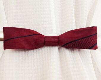 Red Silk Bow Cinch Clip