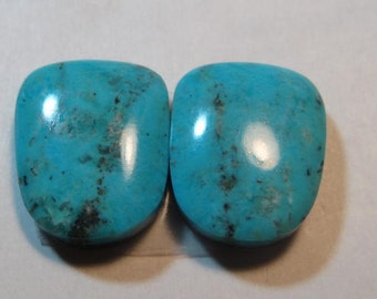 Nacozari Turquoise cabs  ....    2 pieces ...    14 x 14  x 5 mm           ..... a4909