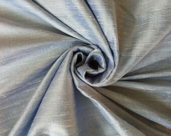 "Light Baby Blue 100% Dupioni Silk Fabric Wholesale Roll/ Bolt 55"" wide"