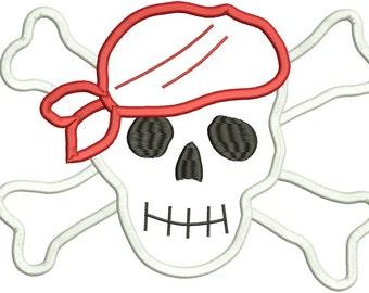 Pirate Applique Design - 3 Sizes - Instant Download
