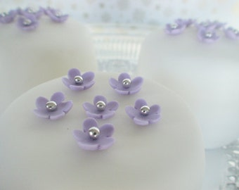 edible sugar mini flowers set of 35 color of your choice