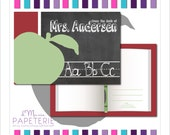 Set of Printed Personalized Teacher Stationery Postcards- Great gift idea for that special teacher