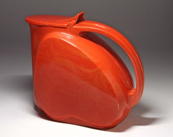 Vintage Red Plastic Pitcher - circa 1960's