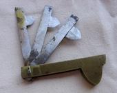 Reserved For Juan Ordonez           Brass Case Three Blade 19th Century Fleam