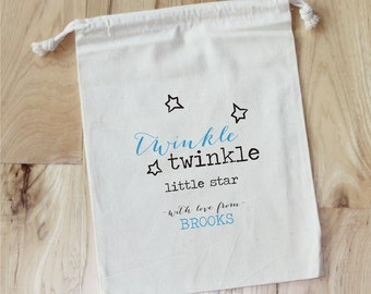 TWINKLE twinkle little star - Personalized Favor Bags - Set of 10