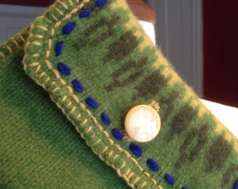 Recycled Green Lambswool Sweater IPod Mini Sleeve