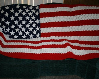 Popular items for american flag afghan on Etsy