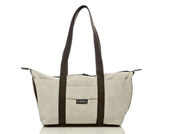 White shoulder bag,Tote bag, laptop bag - Shay tote messenger