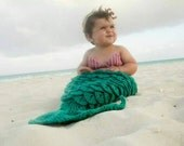 Mermaid Tail Set -  Bikini Shell Top and Headband
