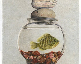 Cairn - Sunfish Fine Art Giclee 5x7 matted to 8x10