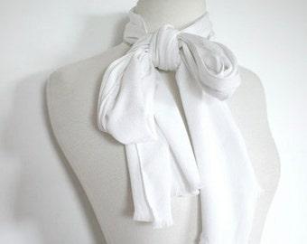 PIERRE CARDIN Vintage Long White Scarf