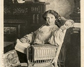 Antique Theatrical Photo Postcard - Edwardian Actress and Singer Miss Agnes Fraser 1904