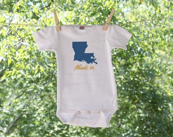 Made In Louisiana State Bodysuit - GC