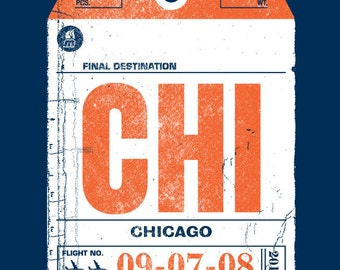 Chicago Bag Tag by Methane Studios