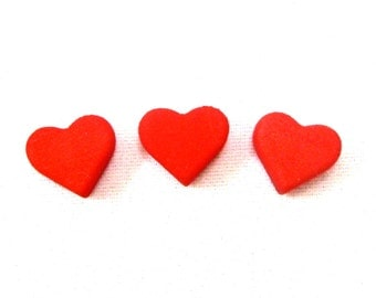 Love Letter game pieces, Set of 13 3D printed red hearts
