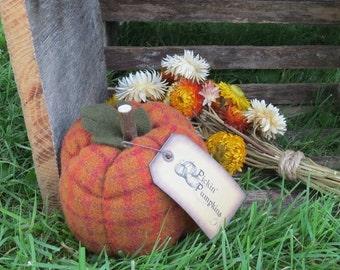 Primitive Wool Pumpkin Harvest Pumpkin Decoration