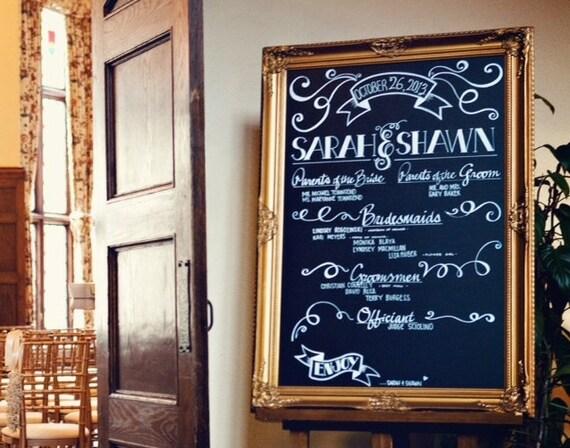 ready to ship gold wedding chalkboard large chalk board wedding decor dining room decor extra large
