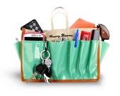 Cherry Blooms ST TROPEZ Medium Beauty Bag Organizer  - Purse Organizer, Fits Ipads, Best design on Etsy