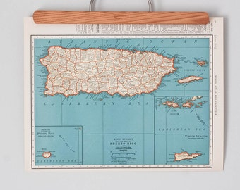 1930s Antique Maps of Puerto Rico and the Philippines