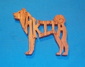 Akita Dog Breed Scroll Saw Wooden Puzzle