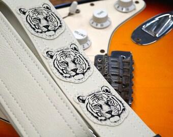 White Tiger Guitar Strap