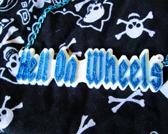 HELL ON WHEELS-Derby Girls Dream Laser Cut Acrylic Necklace