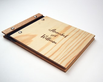 Wedding Guestbook. Wood Book. Engagement Gift. Fifth Anniversary Gift. Bridal Shower