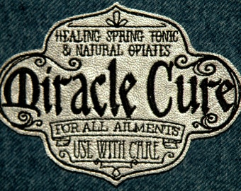 """Miracle Cure Iron on Patch on Cowhide Leather 3.9"""" x 3"""""""