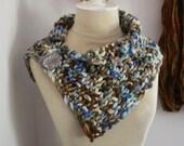 Knitting Pattern / Super Chunky Bulky Cowl Neckwarmer / Granite / PDF DIGITAL DELIVERY