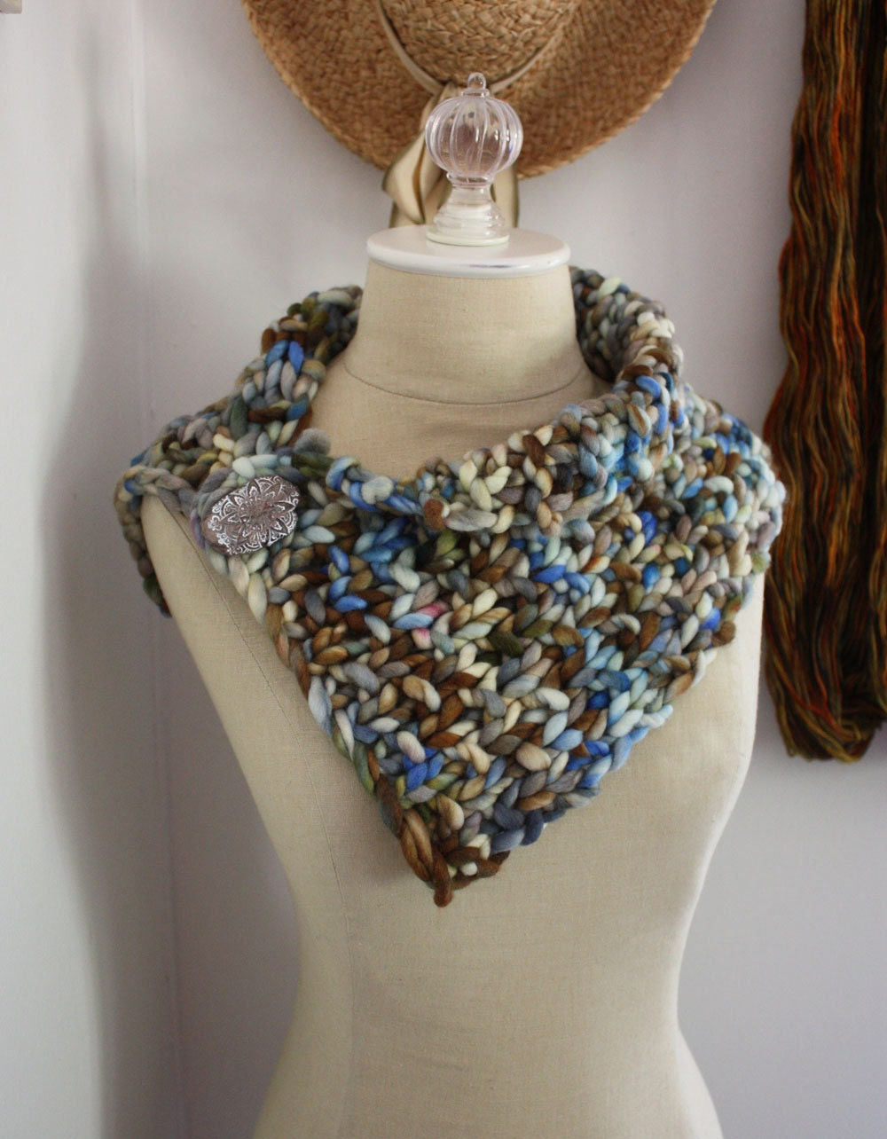 Knitting Patterns For Chunky Weight Yarn : Knitting Pattern / Super Chunky Bulky Cowl Neckwarmer