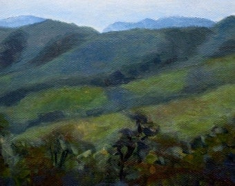 Original Plein Air Mountain Vista Painting