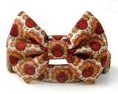 Thanksgiving Turkey Bow Tie Dog Collar
