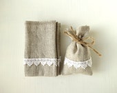 Natural linen gift bag, favor bag, for Birthdays, for Weddings, for small gift, 2.75 x 4.33inch (7x11cm)