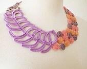 Irish Crochet Lace Jewelry (Mellifluence) Fiber Art Necklace Bib Necklace Statement Necklace