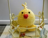 Amigurumi Duck in Yellow Cotton Yarn with Safety Eyes a Small Toy for your Child to Play with