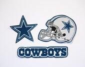 Dallas Cowboys iron on applique Trio