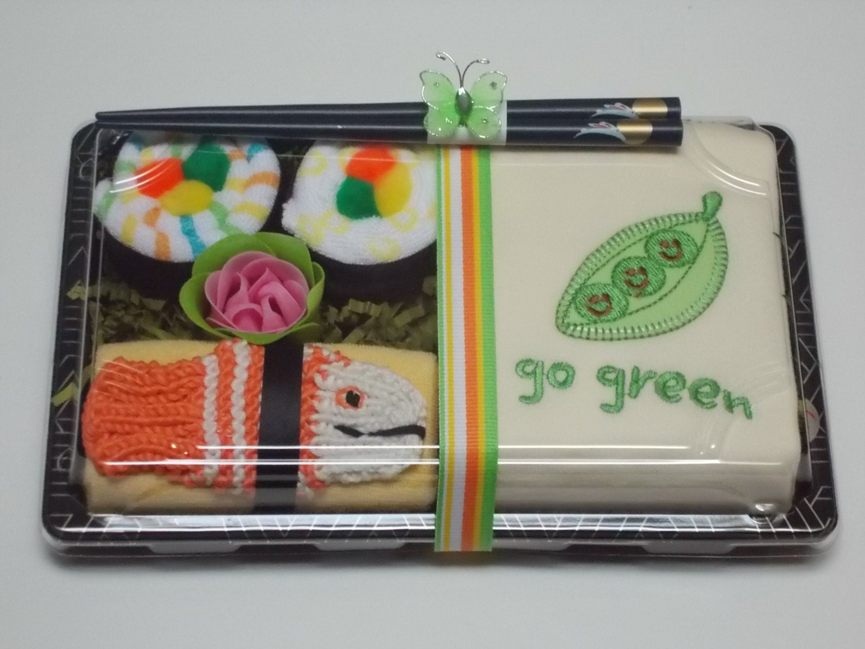 Baby Shower Gifts Organic ~ Baby shower gifts sushi organic cotton onesie set