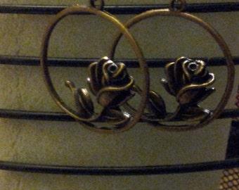 Circular Rose Earrings