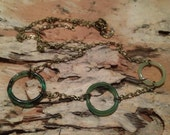 3 Glass Ring Necklace