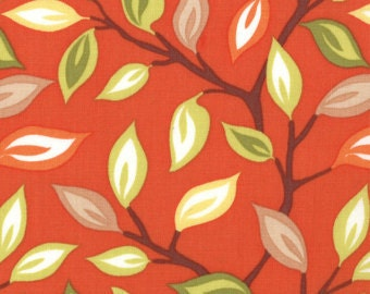 Sale! Moda Kate Spain Serenade Autumn Feathers orange foliage 1 yard