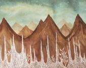 fine art print-Aurora Borealis & the Elk Mountains