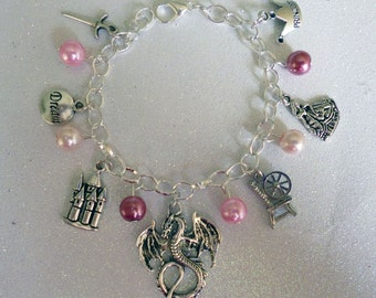 Sleeping Beauty Inspired charm bracelet