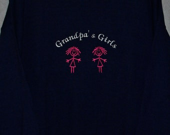 Grandpa's Girls Sweatshirt, Custom Grandparent Gift, PePaw, Gramps, Personalize With Grandchild Name, No Shipping Fee, Ships TODAY, AGFT 416