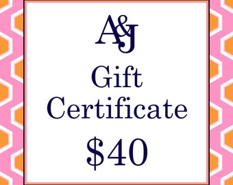 Gift Certificate 40 Dollars